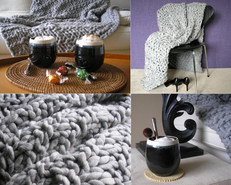 kuscheln erlaubt chunky knit blanket home art magazine. Black Bedroom Furniture Sets. Home Design Ideas
