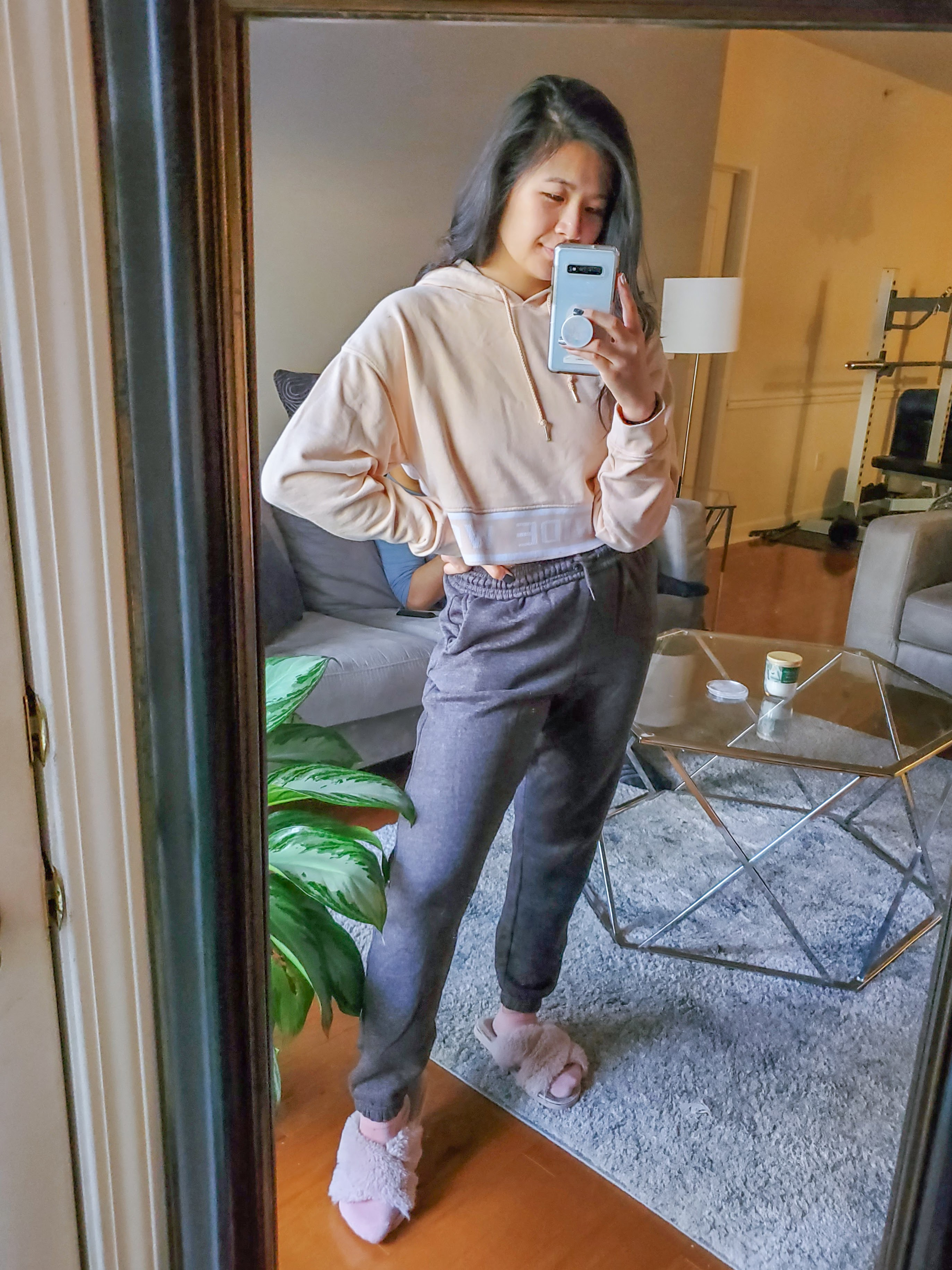 Dark Grey Cuffed Joggers - Femme Luxe
