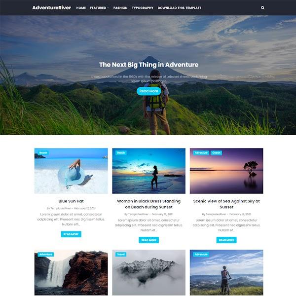AdventureRiver - Travel & Adventure Responsive Blogger Template