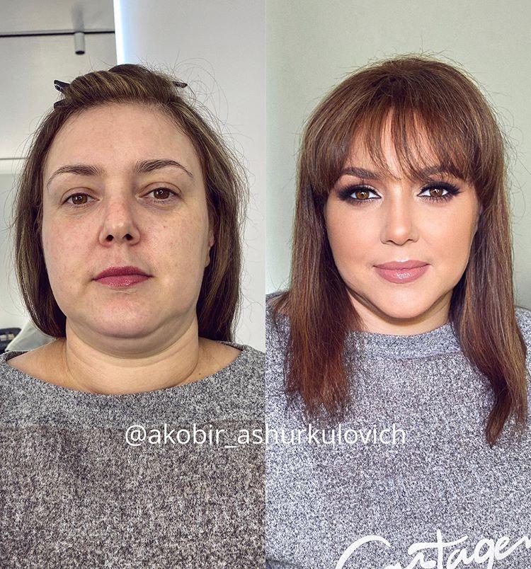 25 Женщин До и После Макияжа. Удивительно Преображение