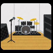 スタジオのイラスト(音楽)