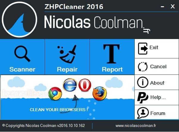 Downloads program ZHPCleaner 2019