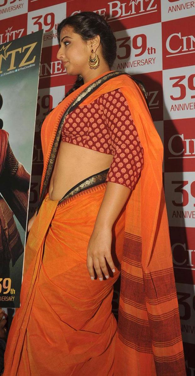 Tamil Actress Hd Wallpapers Vidya Balan Hot Navel Stills In Saree Public Function-4680