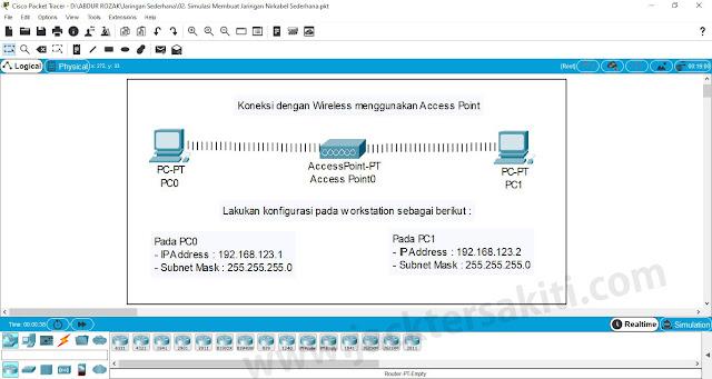 Membuat Jaringan Wireless dengan Cisco Packet Tracer