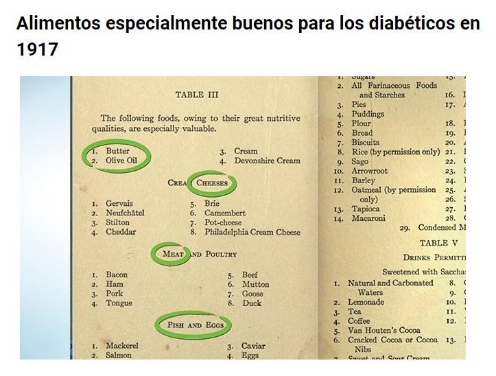 Consejo dietético de la NHS para la diabetes