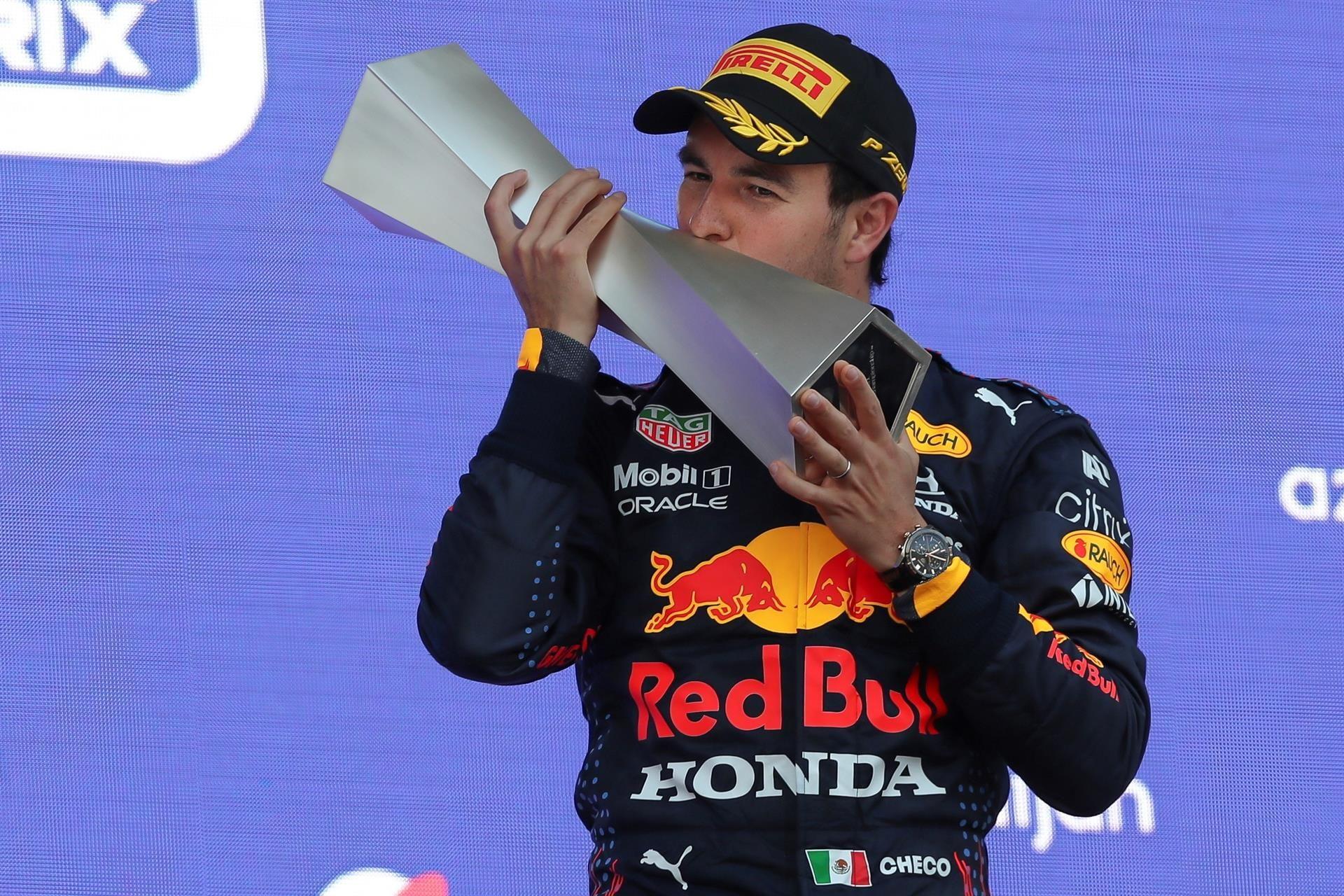 Fórmula 1: Con final sorprendente, el mexicano Checo Pérez festeja un GP de Azerbaiyán