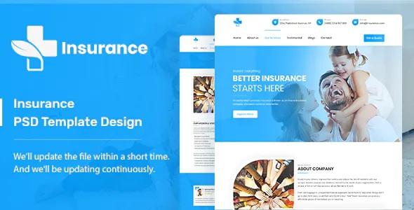 Best Insurance Company PSD Template