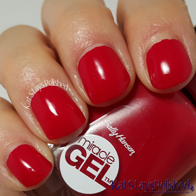 Sally Hansen Miracle Gel Winter 2015 - Rhapsody Red | Kat Stays Polished