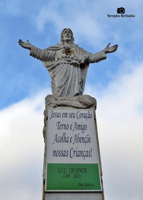 Vista da Estátua Cristo Redentor - Instituto Cristóvão Colombo - Vila Dom Pedro I - São Paulo