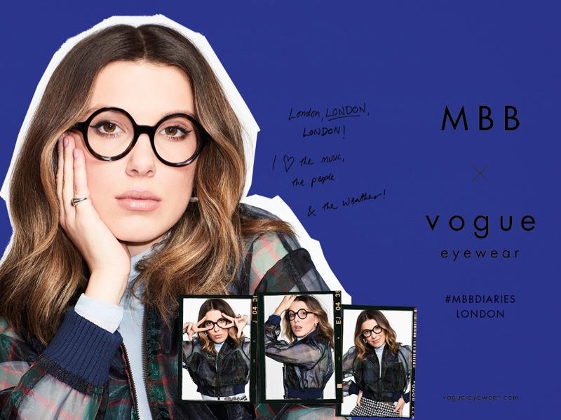 Millie Bobby Brown wears MBB x Vogue Eyewear London style.