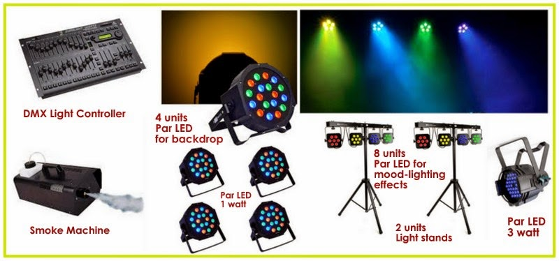 ... Events Like Weddings, Debuts, Birthdays,anniversary, Corporate Events,  Grand Openings, School Event Or Any Event In Need Of Lights And Sounds  Services.
