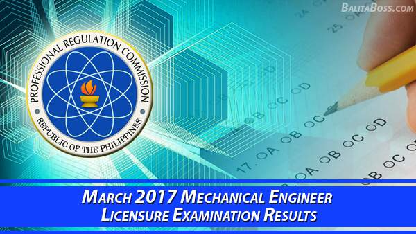 Mechanical Engineer March 2017 Board Exam