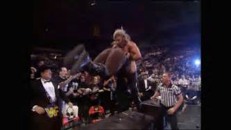 Triple H VS Manking 1997 finals announce table king of the ring