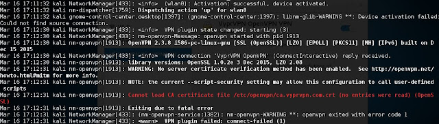 Comment Installer  un VPN sur Kali Linux