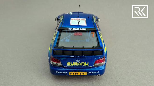 Photo of 1:43 AUTOart Subaru Impreza S12 WRC '06 from Rallye Monte-Carlo 2007, driven by Petter Solberg / Phill Mills