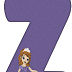 Abecedario Morado con la Princesa Sofía. Purple Alphabet with Sofia the First.