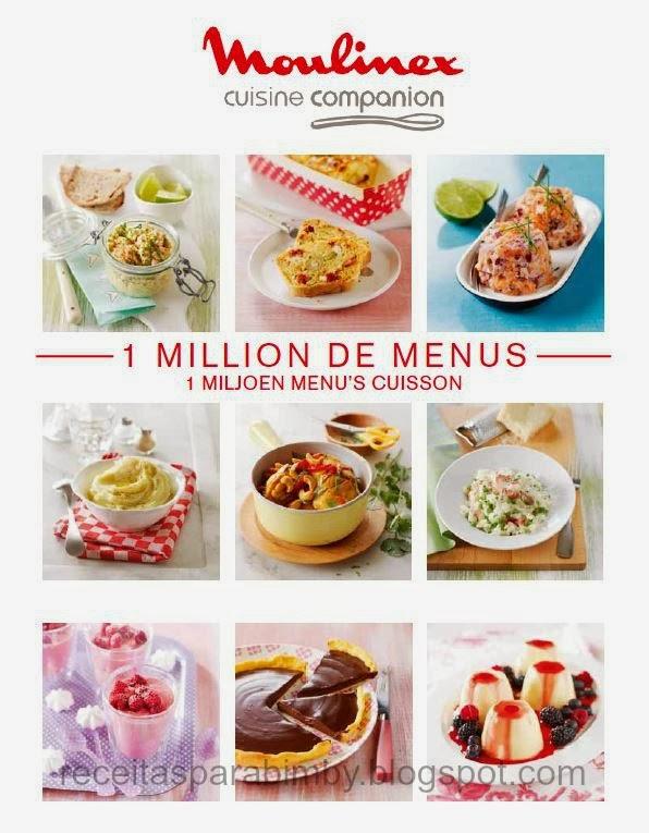 Moulinex cuisine companion livro 1 milhão de menus