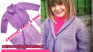 Saco cuello esmoquin a crochet para niños / Paso a paso crochet 💚