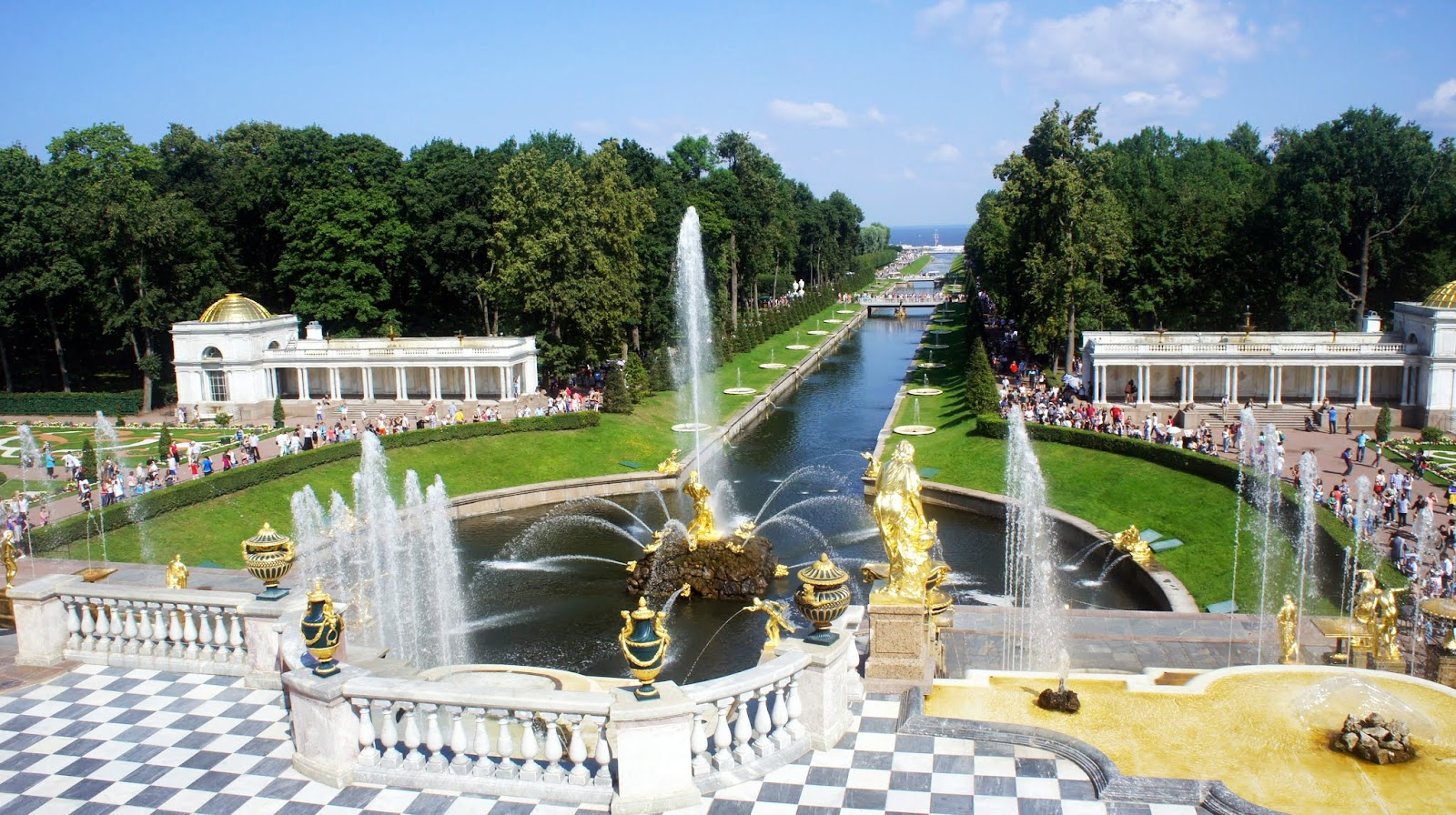 Cindy喵之異言堂: [出差][旅遊] 聖彼得堡 - 必去 彼得夏宮 Peterhof - 下花園 (2013)