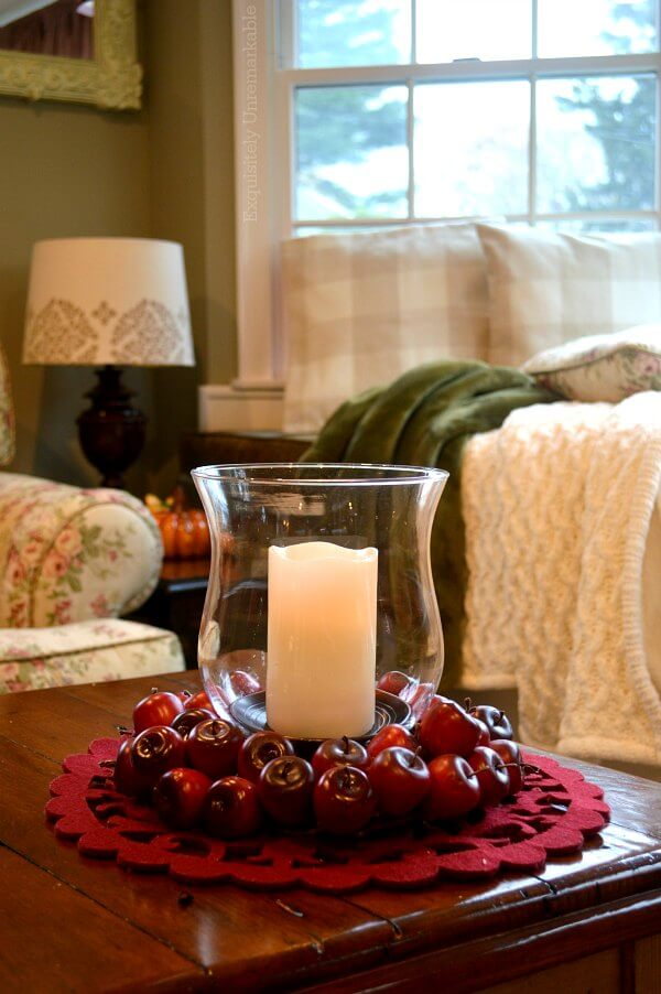 Hurricane Candle In Apple Candle Ring