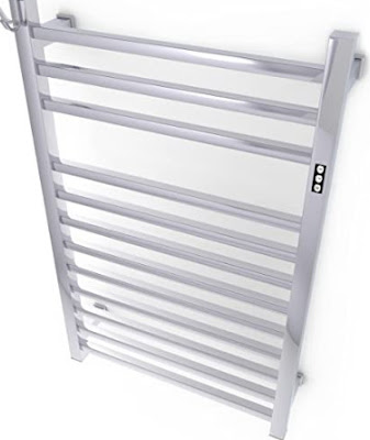 Brandon basics wall mounted electric towel warmer with a built-in timer