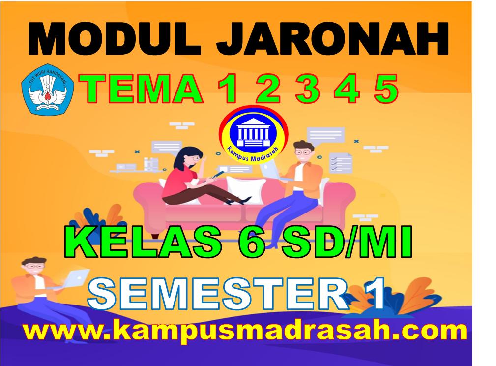 Modul BDR/PJJ Kelas 6 SD/MI