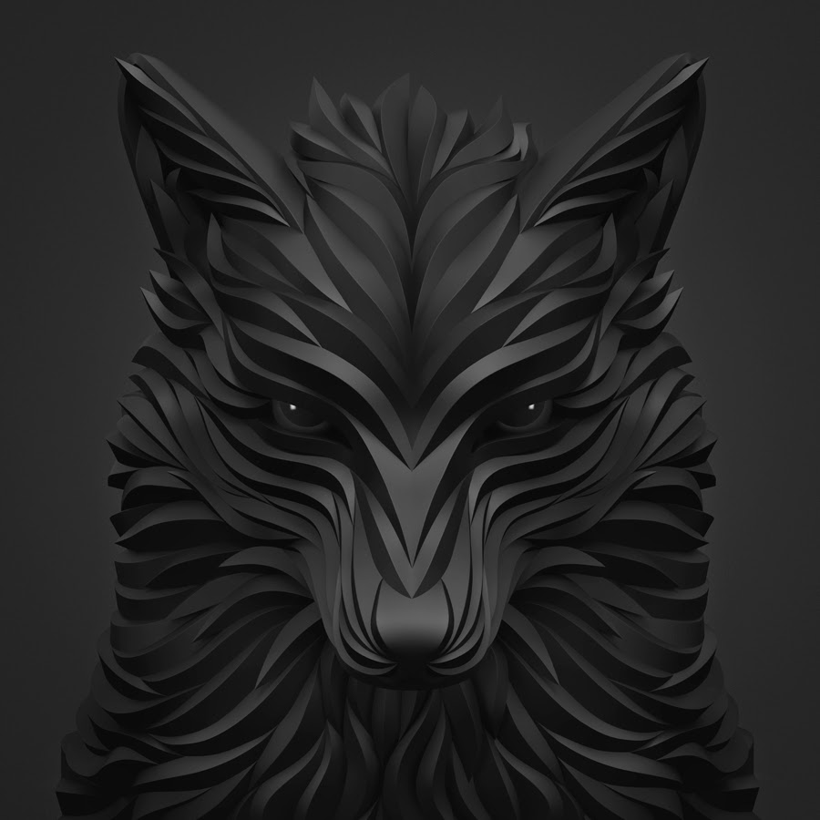 09-Black-Wolf-Maxim-Shkret-Digital-Origami-Animal-Art-www-designstack-co