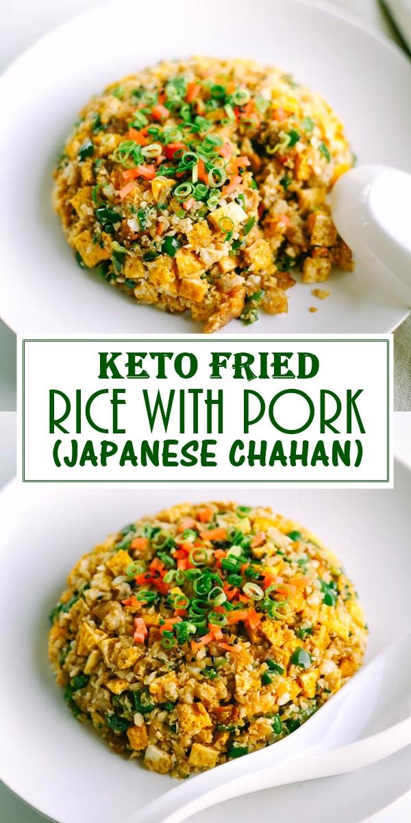 KETO FRIED RICE WITH PORK (JAPANESE CHAHAN) #Dinnerrecipes