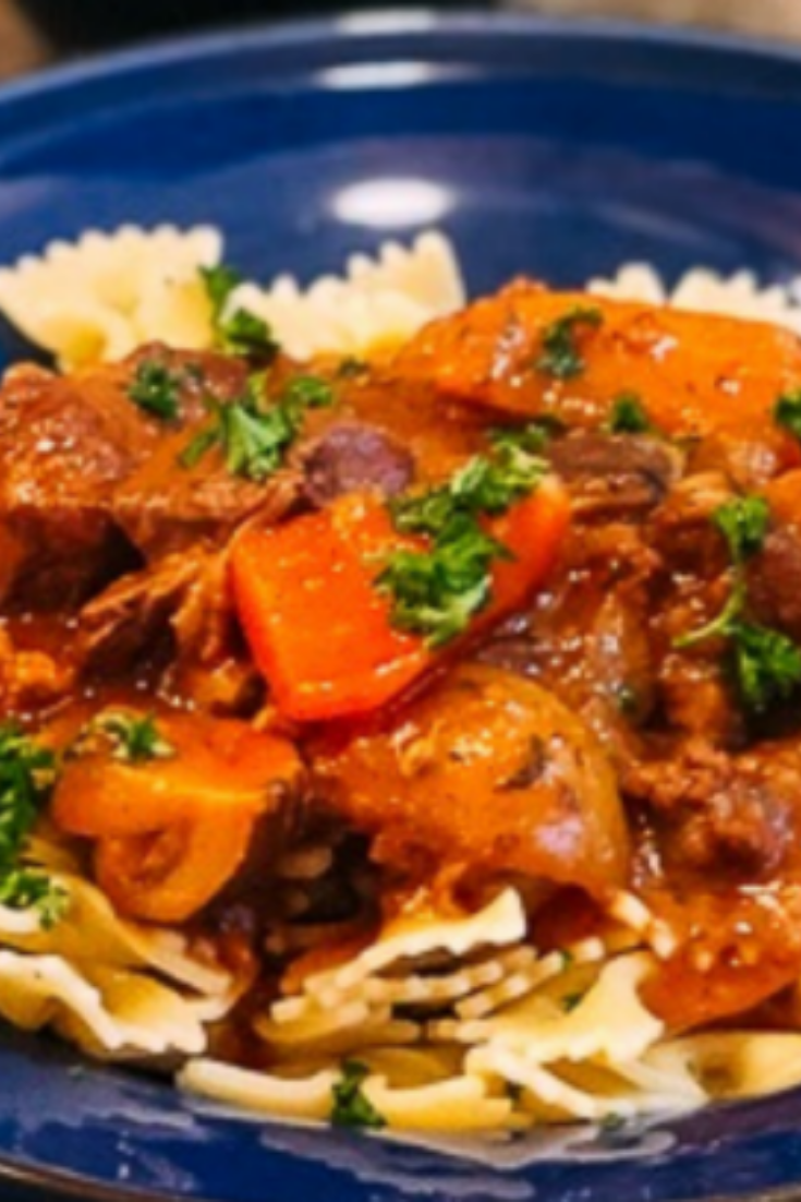 my favorite meat recipesis Beef Stew with Pasta Recipe #meatrecipes #meat #recipes #porkrecipes #meatloaf
