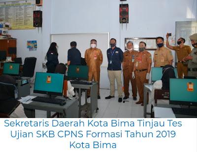 Didampingi Kepala BKPSDM, Sekda Kobi Tinjau Pelaksanaan Ujian SKB CPNS Formasi Tahun 2019