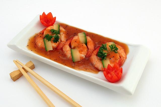 Dancing squid dish in Japanese cuisine