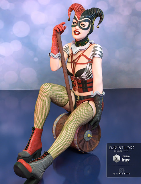 Lady Jester Outfit for Genesis 3 Female