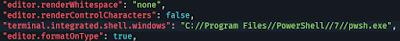 Редактирование параметров редактора кода VS Code