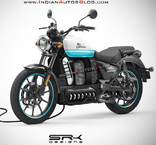Design concept for electric Royal Enfield.