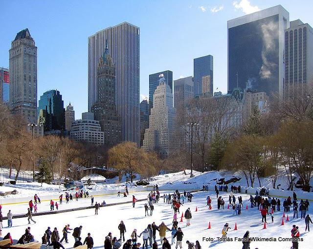 Wollman Rink, rinque de patinação no gelo do Central Park, Nova York
