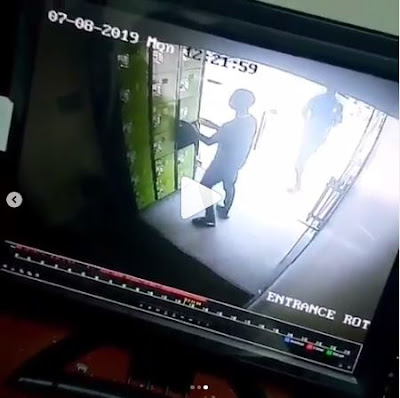 Boy Caught On CCTV Stealing A Bag From A Locker In Fidelity Bank, Lekki