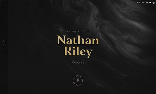Trend and Inspiration Web Design 2018 - Nathan Riley Portfolio 2017