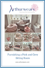 furnishing a pink and grey lounge