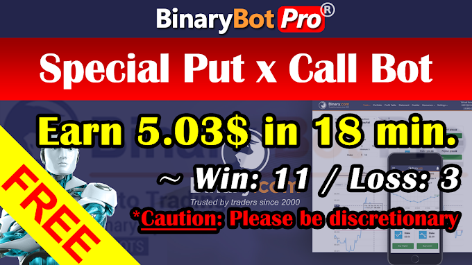Special Put x Call Bot (10-Aug-2020) | Binary Bot | Free Download