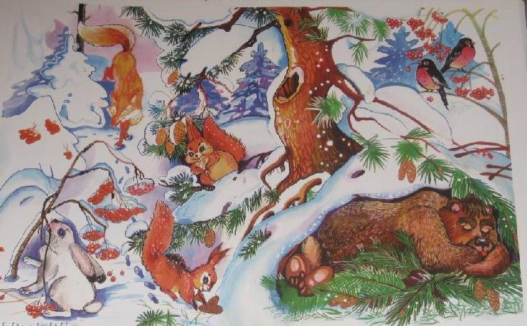 идея где зимуют дикие животные картинки бумажного полотенца вырезаем