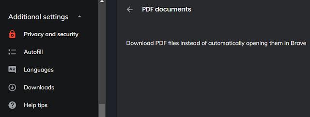 Block PDF Viewer in Brave