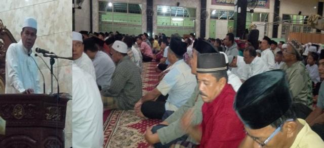 Mesjid Raya Kampung Baru Pariaman Dibanjiri Jemaah Subuh Mubarakah