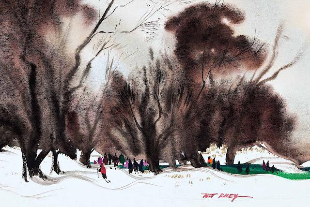 Art Riley Disney for Disney, winter sports