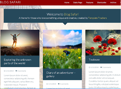 Blog Safari Blogger Template