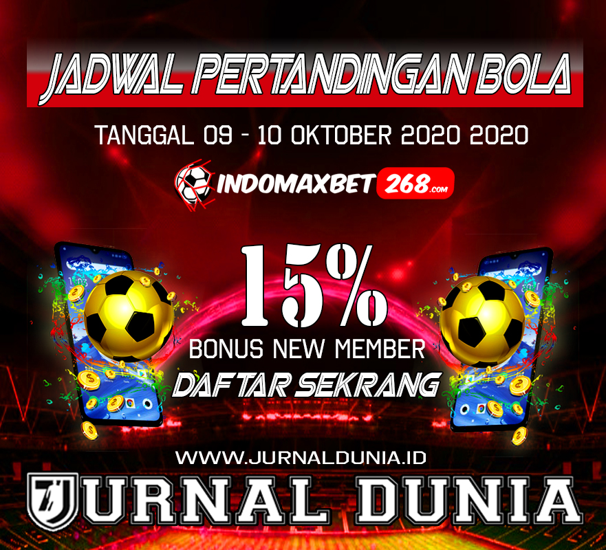 Jadwal Pertandingan Sepakbola Hari Ini, Jumat Tgl 09 - 10 Oktober 2020