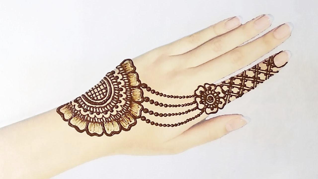 jewellery mehndi design front hand