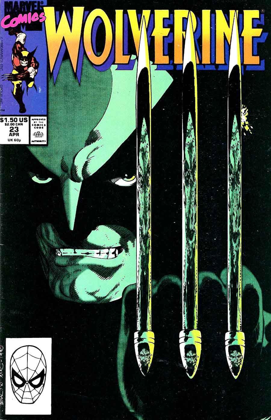 Wolverine v2 #23 marvel 1990s comic book cover art by John Byrne