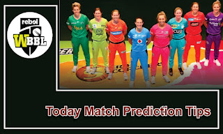 WBBL T20 All Cricket Match Prediction Tips Free Womens Big Bash League 2020-21