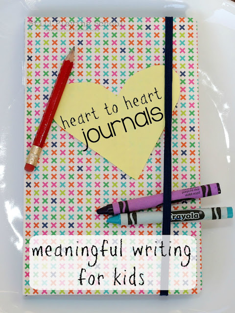 Write letters back and forth to your kids in a journal for meaningful writing practice