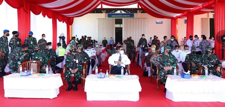Simulasi Force Down di Pangkalan TNI AU Sultan Hasanuddin Makassar